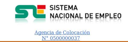 Agencia de Colocación nº 0500000037