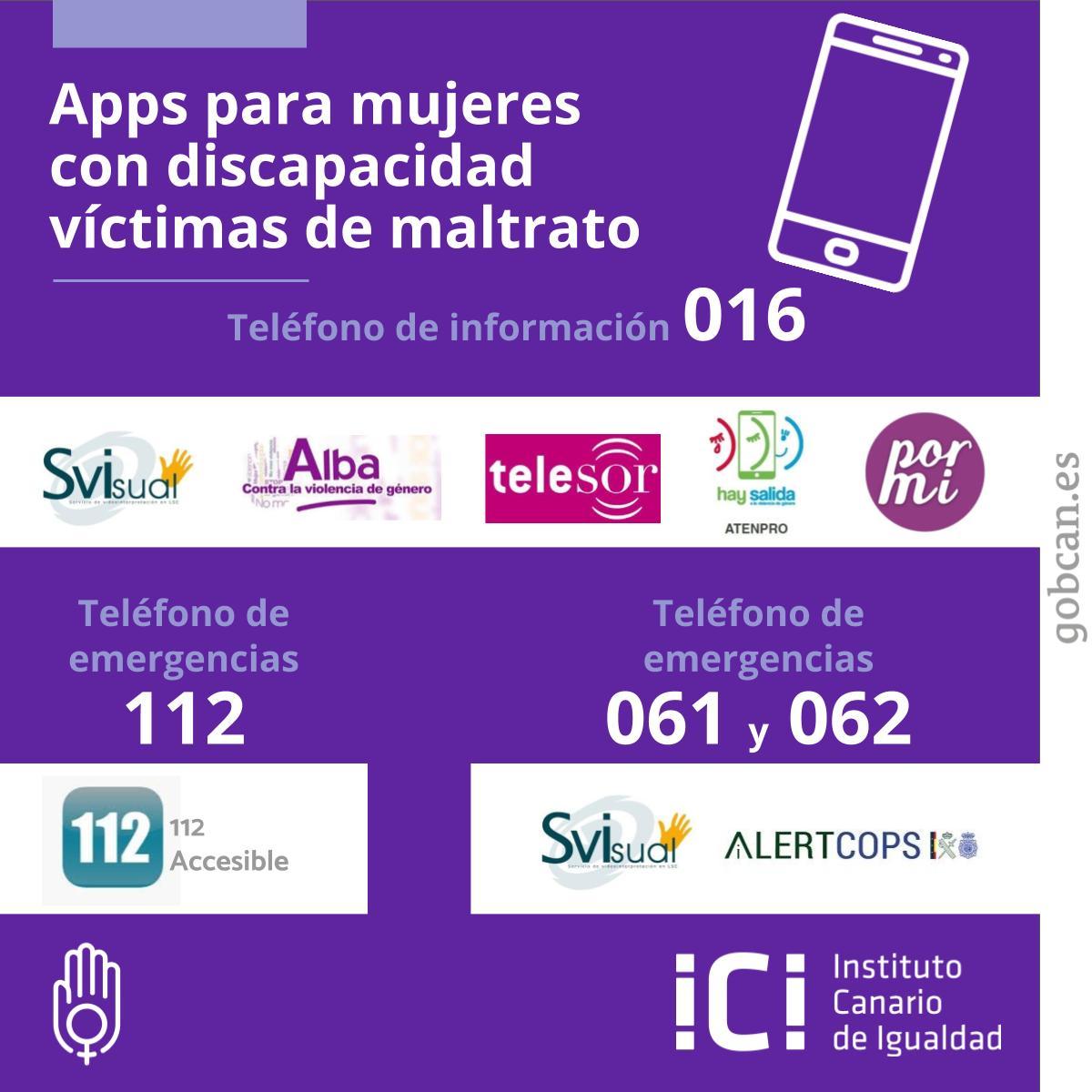 Apps para maltrato y discapacidad