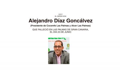 Fallece Alejandro Díaz Goncálvez Presidente de Cocemfe Las Palmas