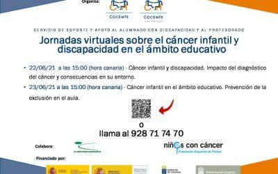 Jornadas Virtuales sobre el cáncer infantil y discapacidad en el Ámbito educativo